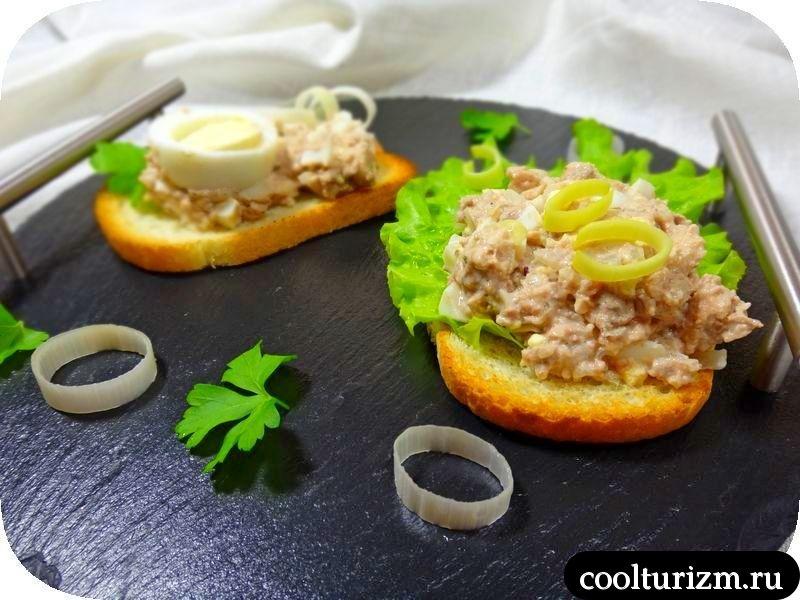 салат из печени трески классический