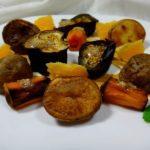 Салат из запеченных овощей с ореховым соусом и апельсинами