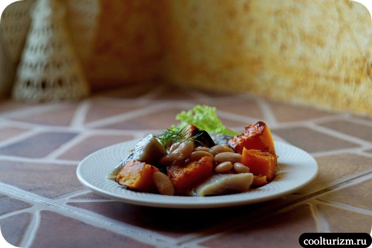 салат из селедки и фасоли