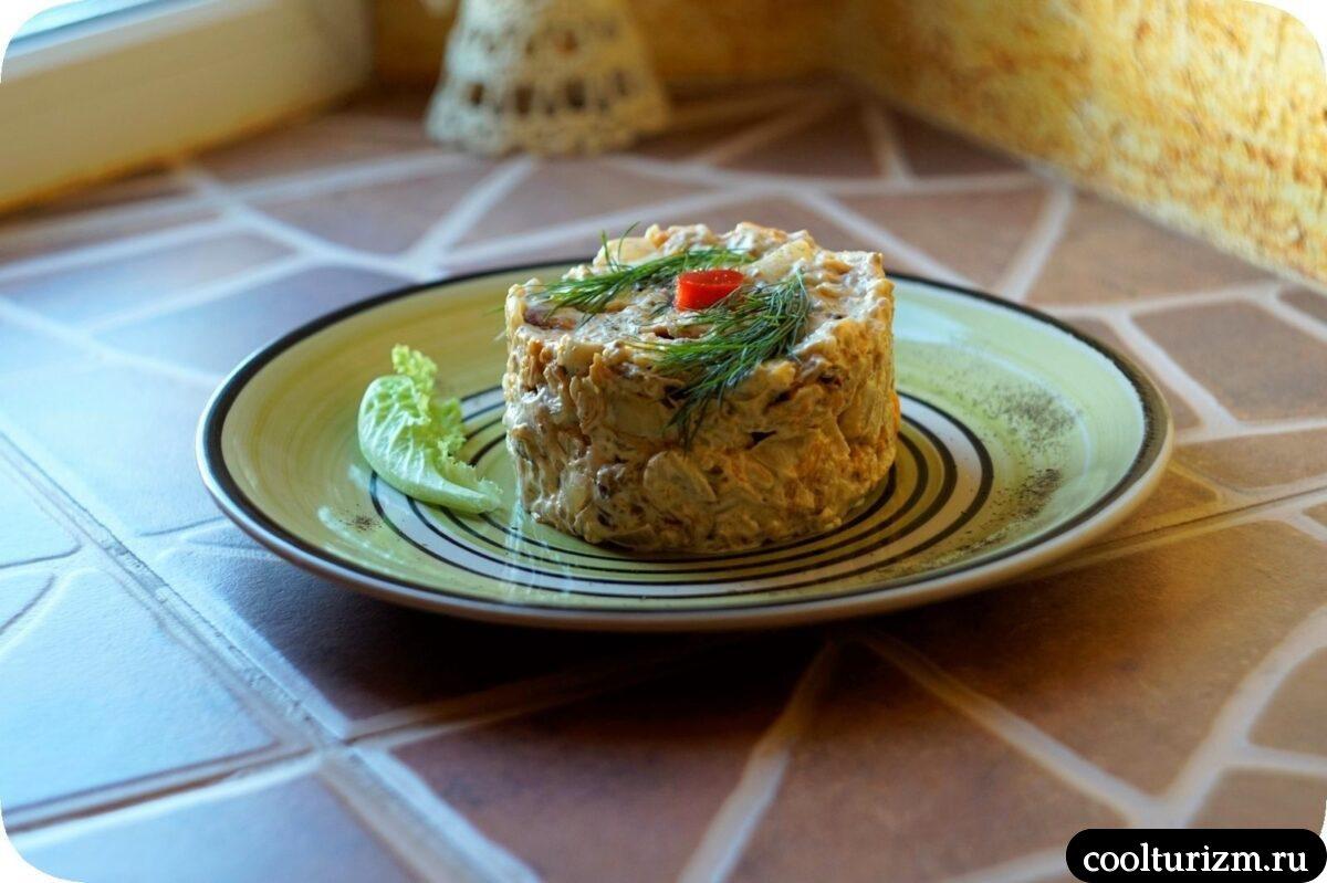 салат с тыквой и тушенкой