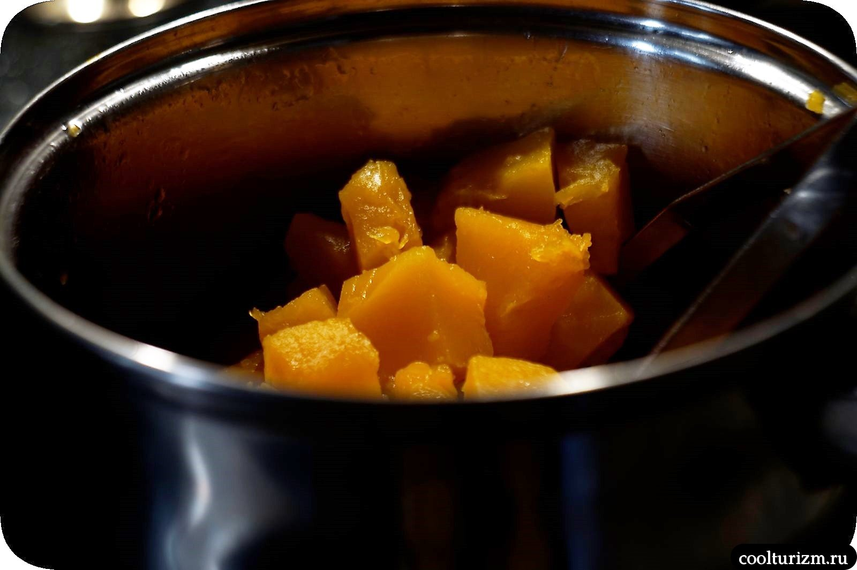 закуска из печени трески и тыквы