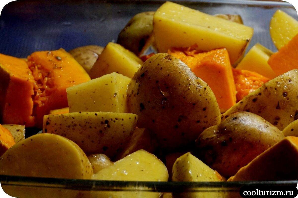 кура с корицей и овощами