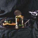 Салат кальмар с треской и тыквой