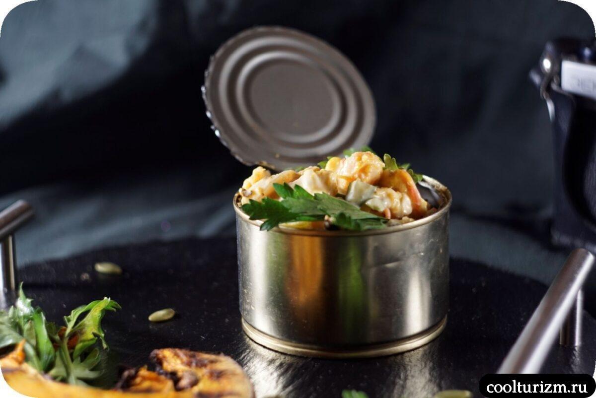 салат кальмар с треской