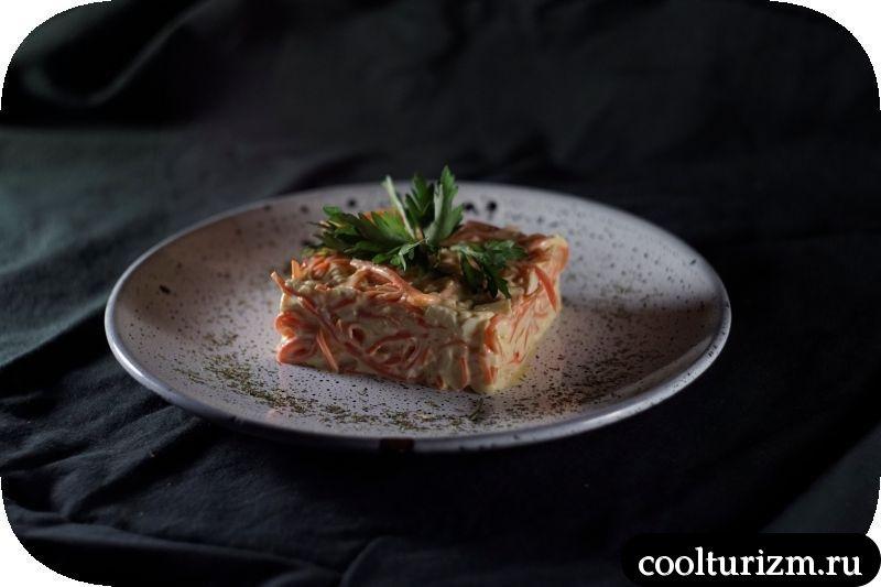 простой салат с корейской морковью