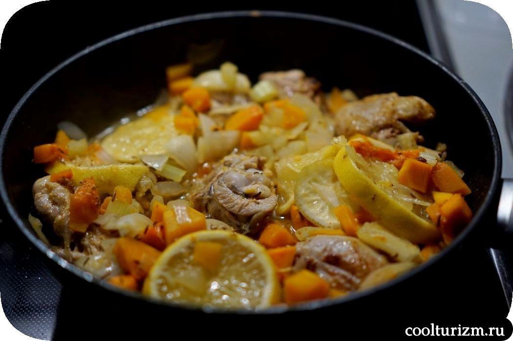 курица с лимоном и мартини