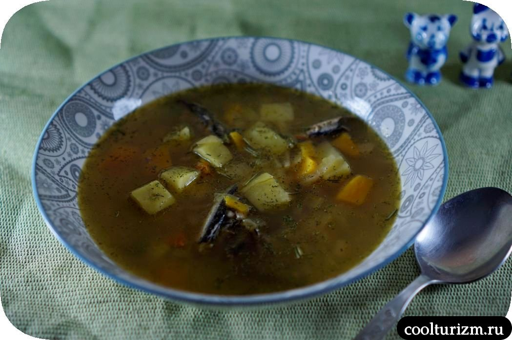 суп из шпротов