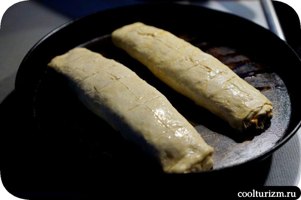 штрудель с тыквой и сыром