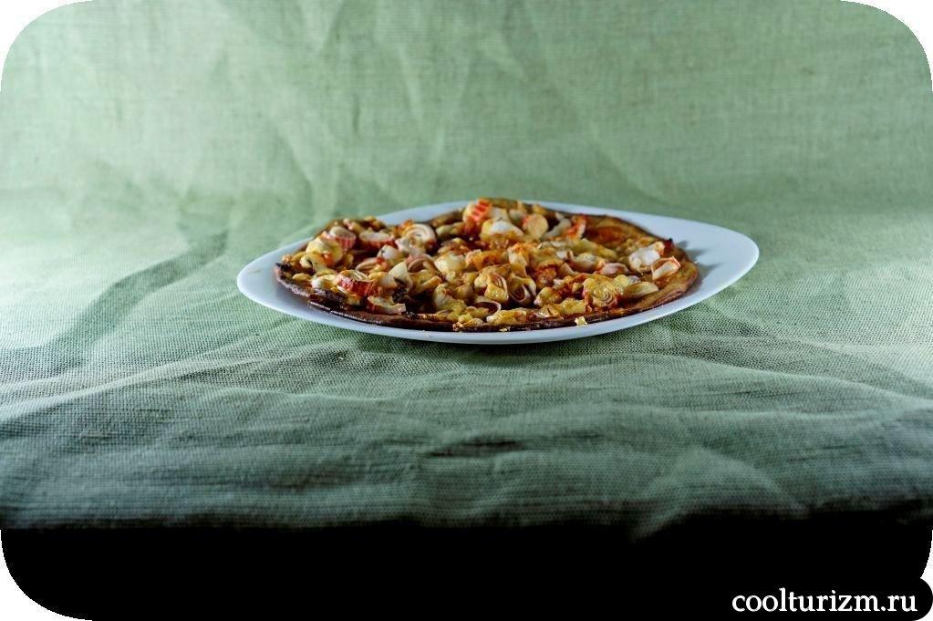 как приготовить пиццу с крабовыми палочками
