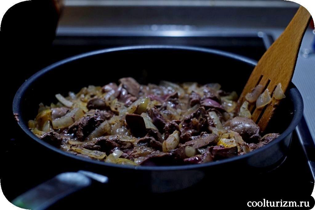 как приготовить салат из куриной печени с перловкой