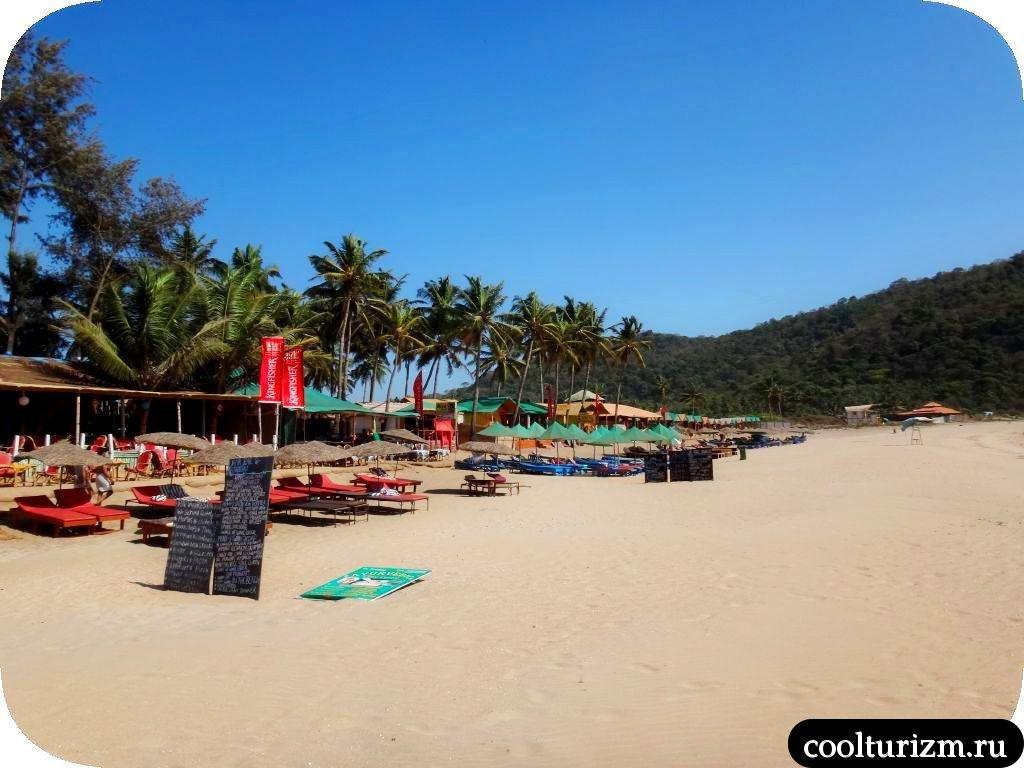 Агонда.Южный Гоа. Пляжный ресторан Рико
