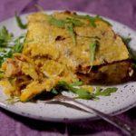 Гратен из картофеля с курицей и тыквой