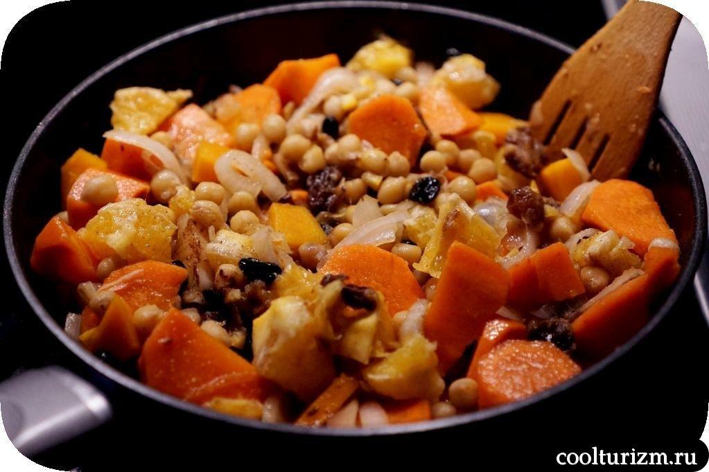 морковный цимес с нутом