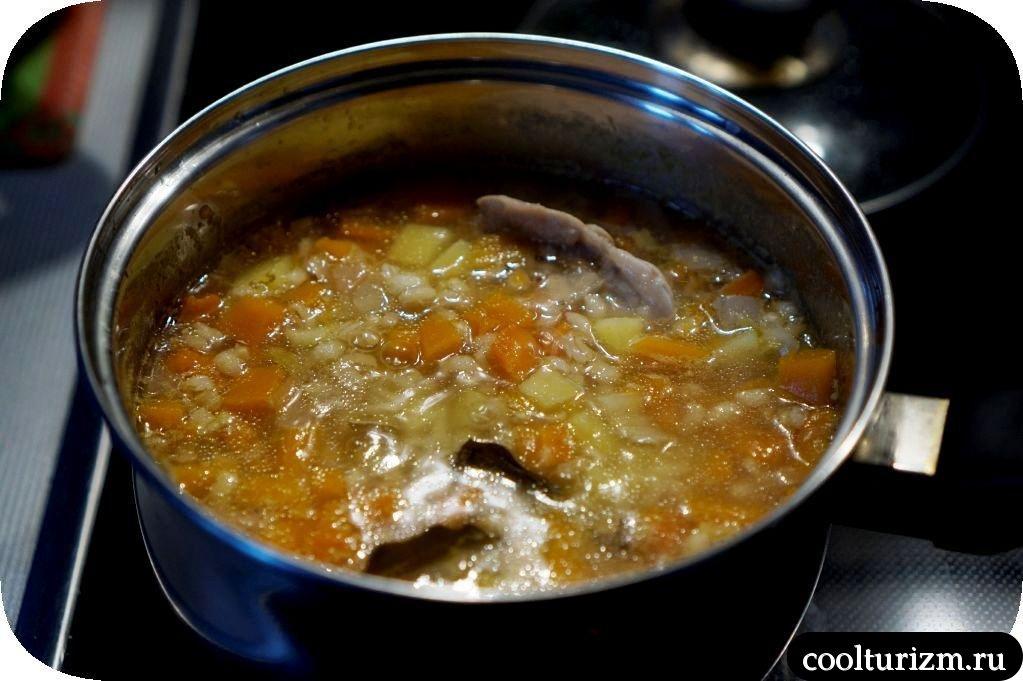 как приготовить перловый суп