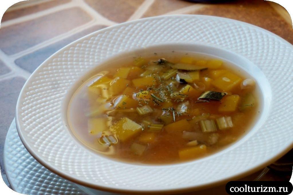 суп из цукини и тыквы