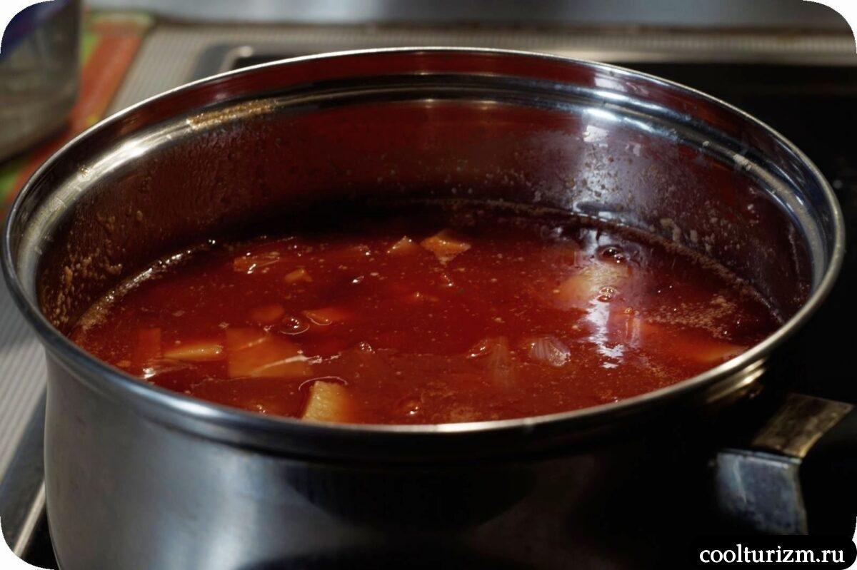 суп из тыквы и свеклы