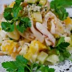 Салат с кальмарами самый вкусный рецепт.Салат с кальмарами пошагово