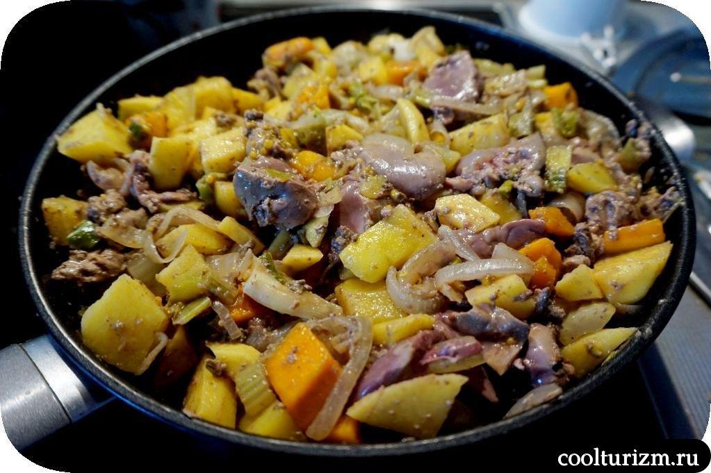 как приготовить печень с картошкой
