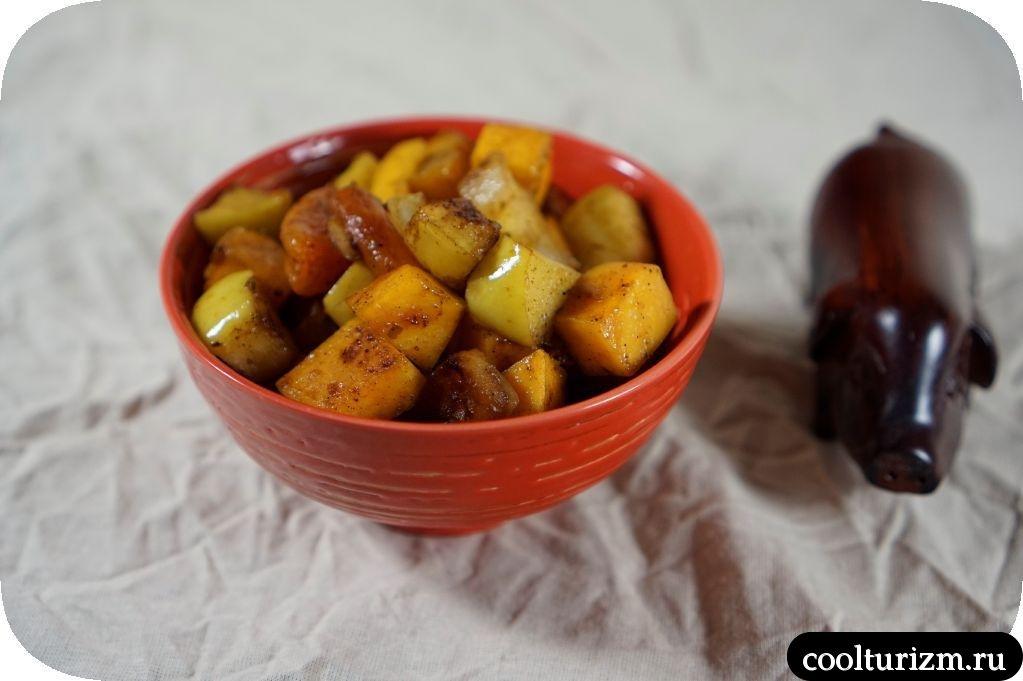 гарнир из яблок и тыквы