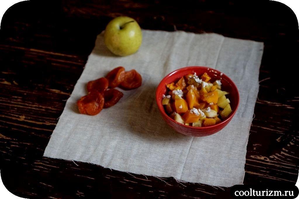 вкусный десерт из тыквы и яблок