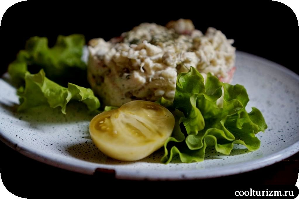 салат из трески с рисом