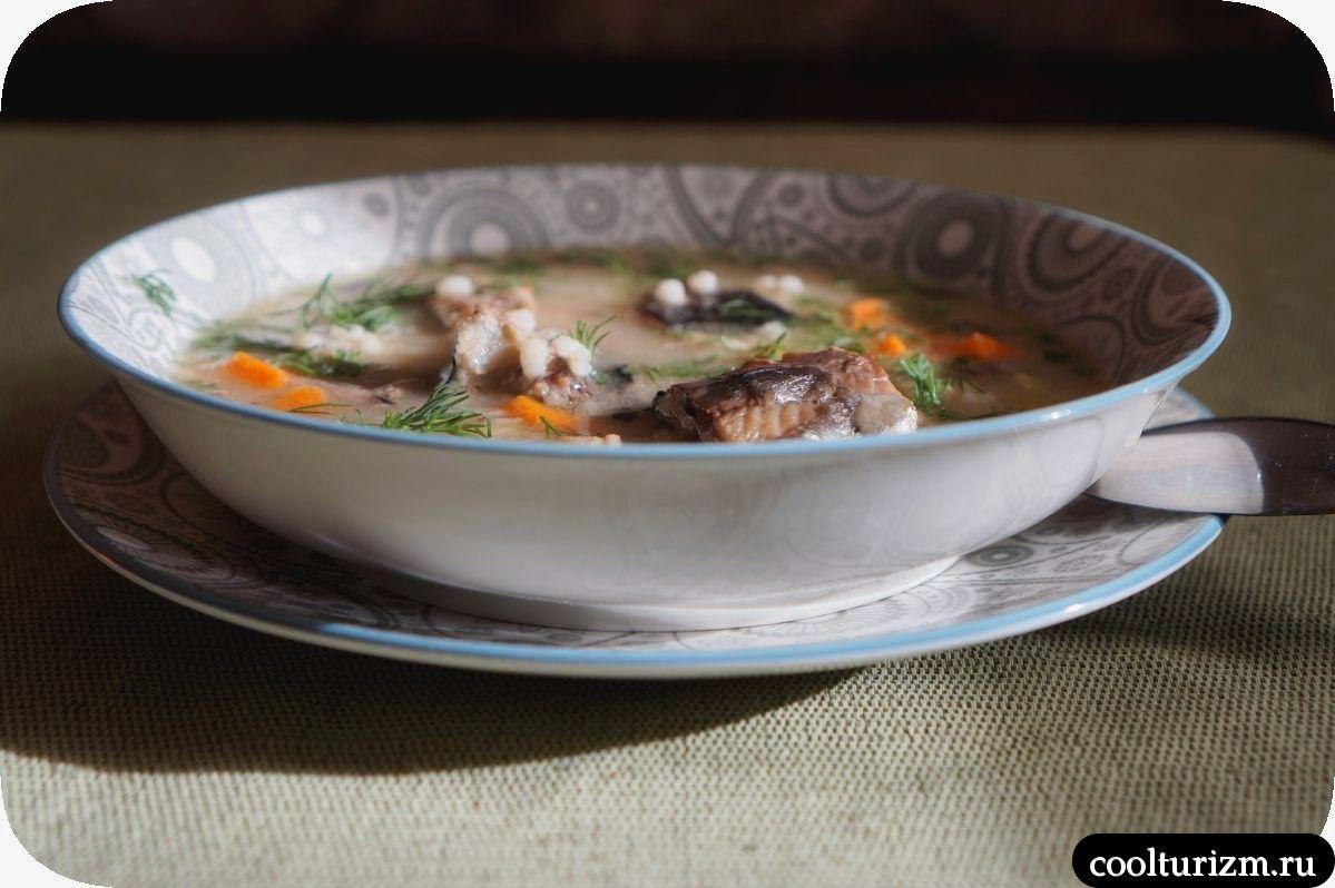суп из селедки с перловкой