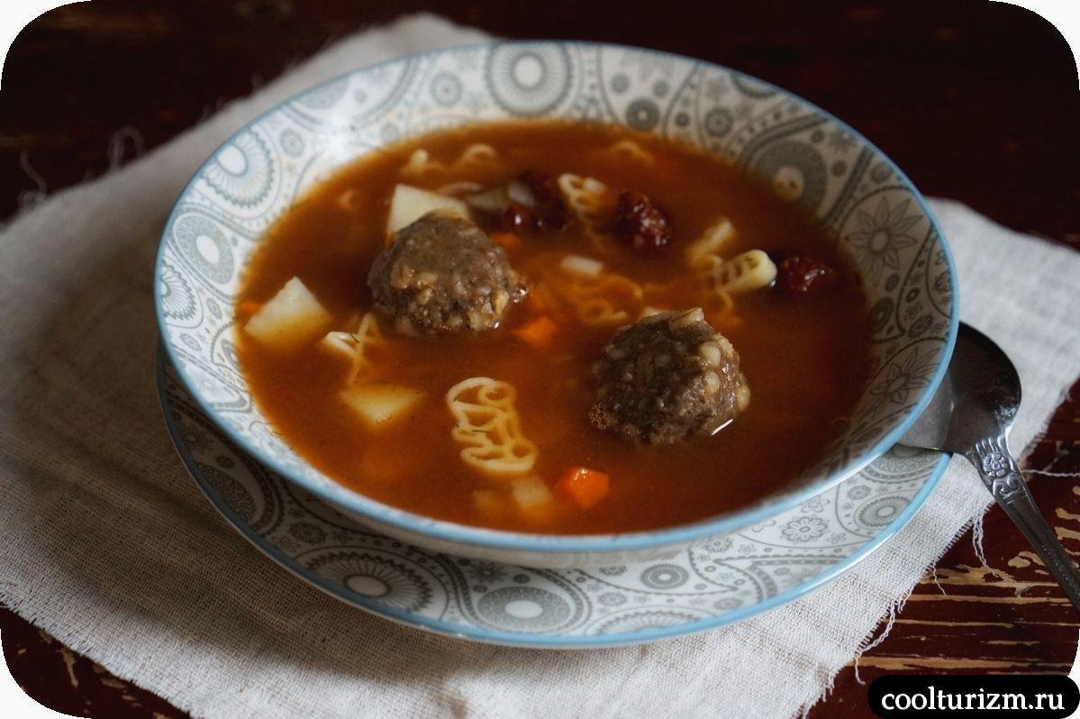 суп с рыбными тефтелями