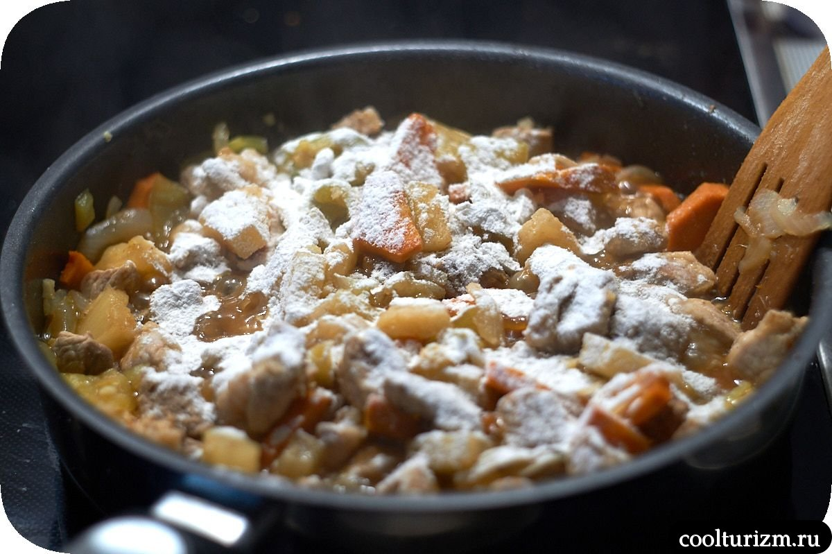 мясо по-китайски в кисло сладком соусе