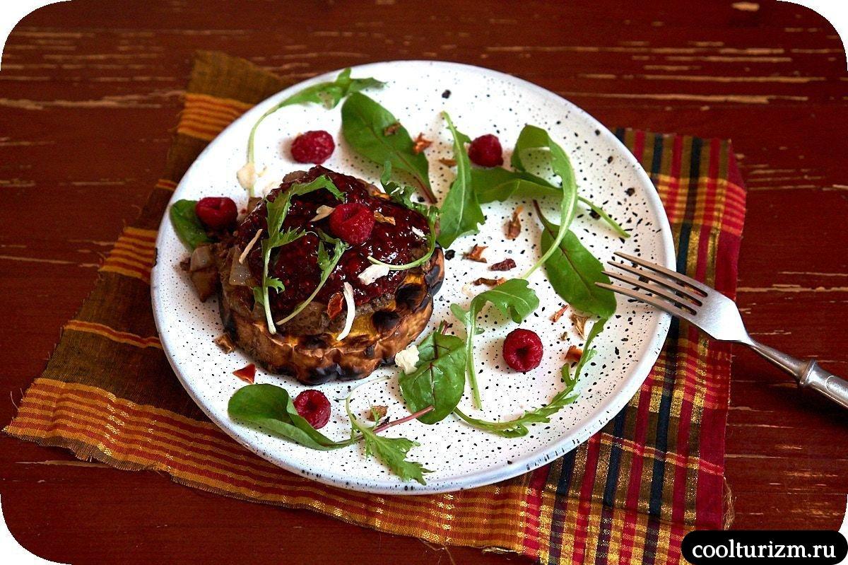 печень куриная с тыквой и малиновым чатни