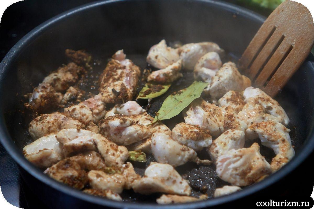 Курица в соусе карри