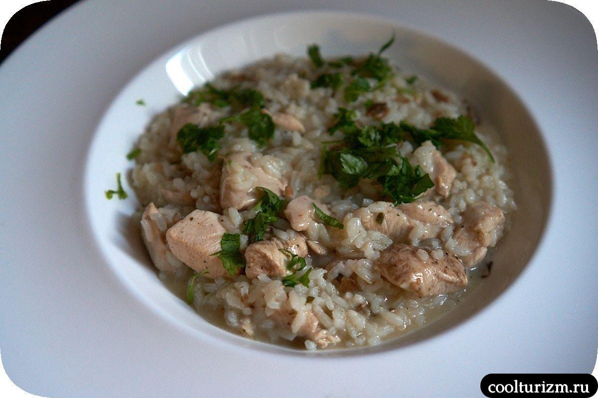 рис с грибами и курицей из пачки