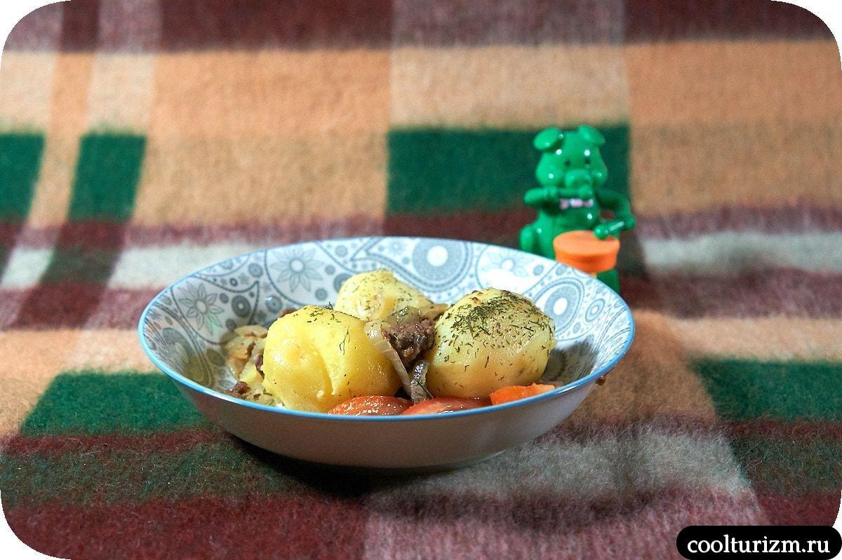 оленина тушеная с картошкой