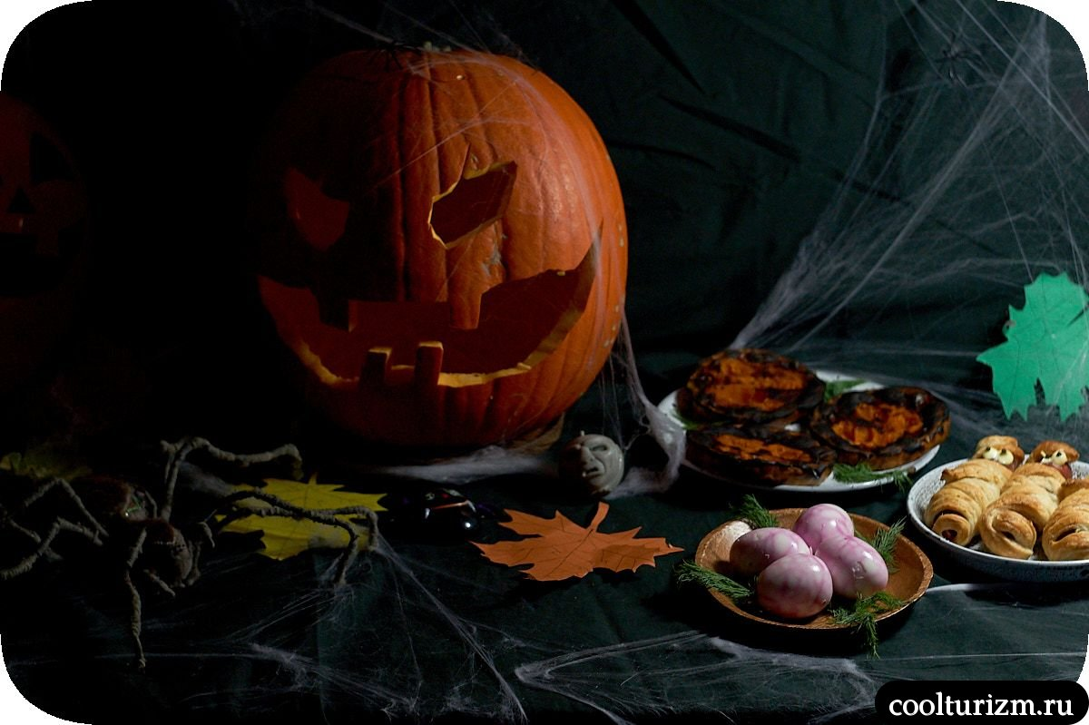 кровавые яйца на Хэллоуин