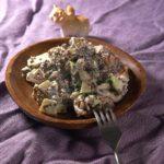 Салат с киноа и кальмарами