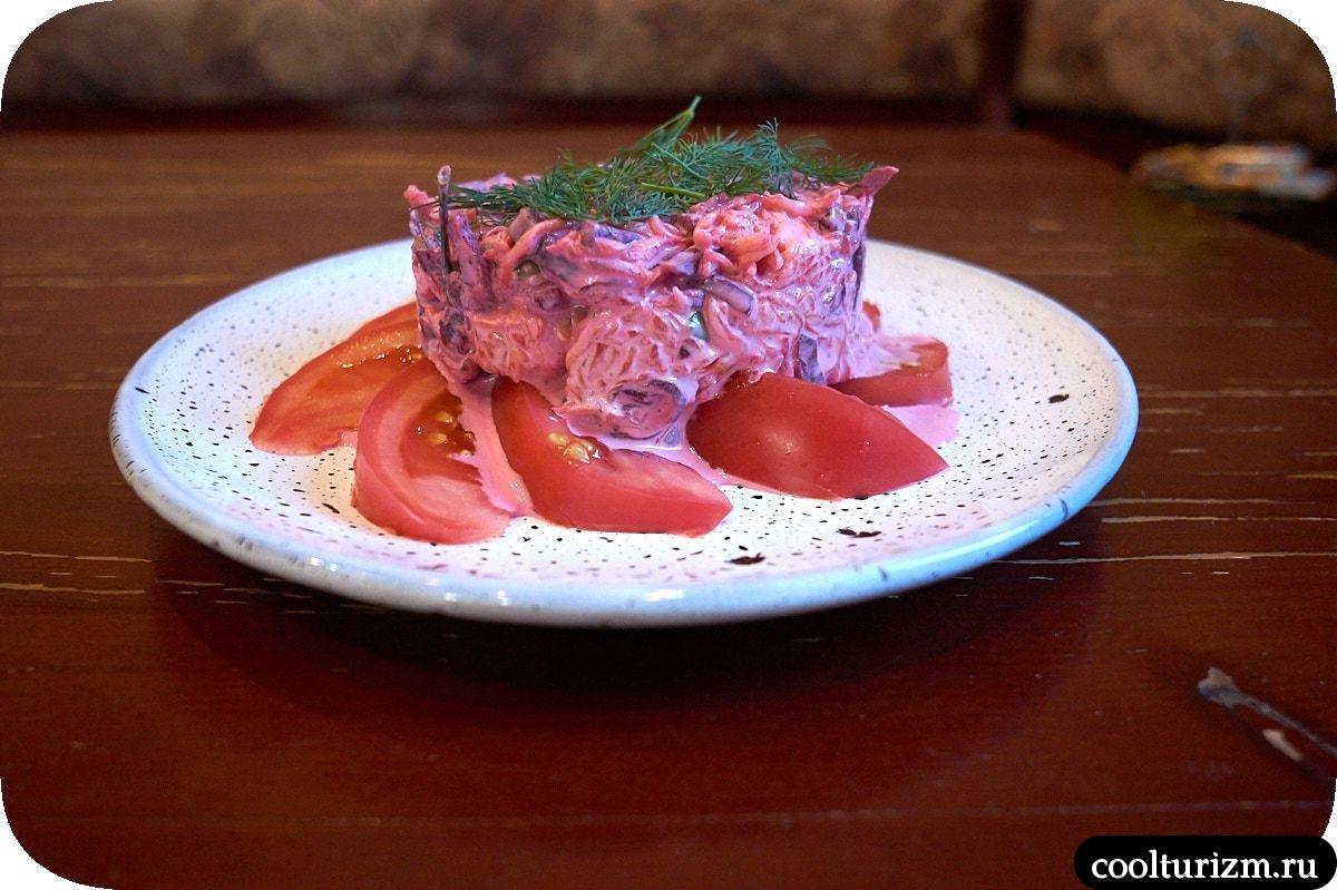 салат со свеклой и тыквой