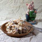 Салат с селедкой и фасолью