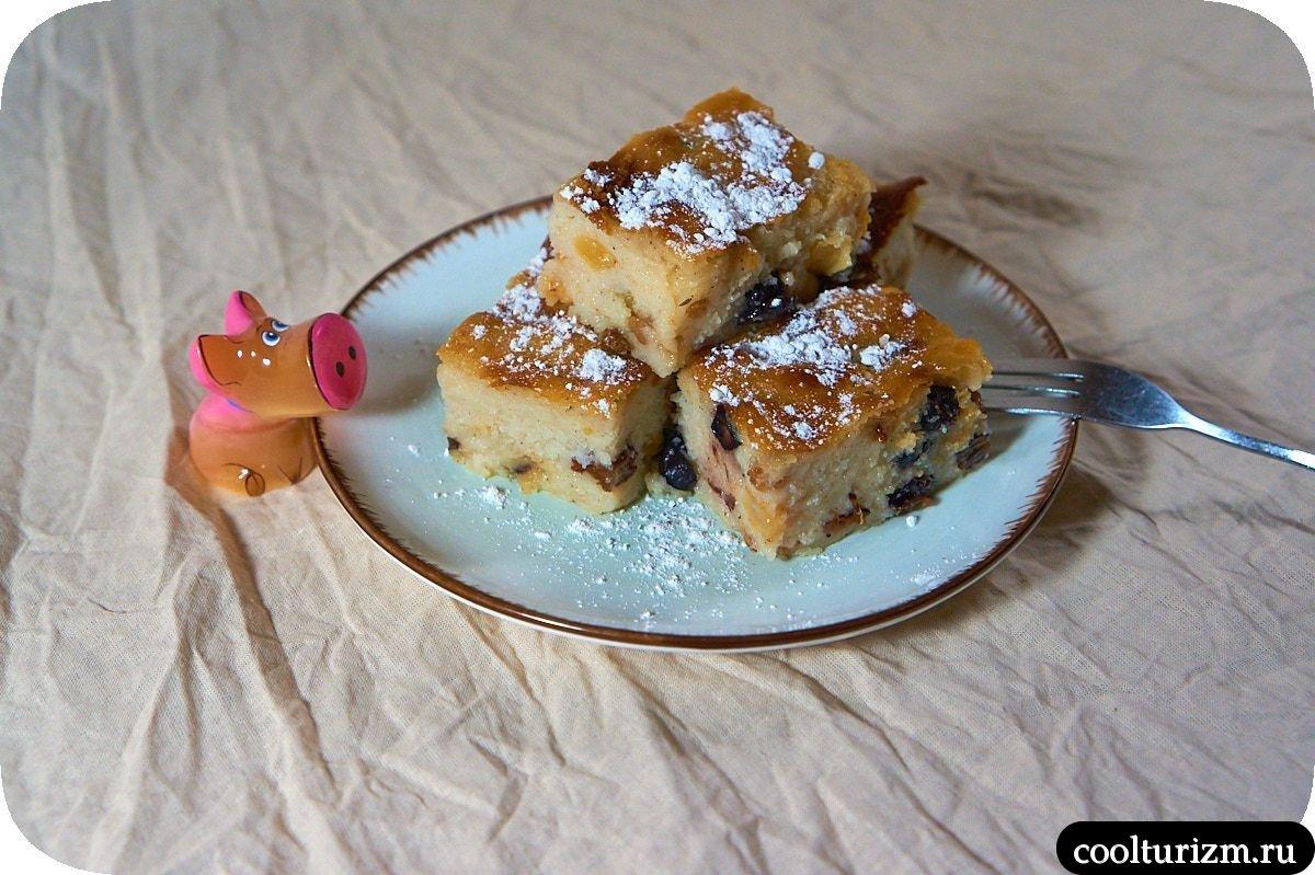 манный десерт с изюмом