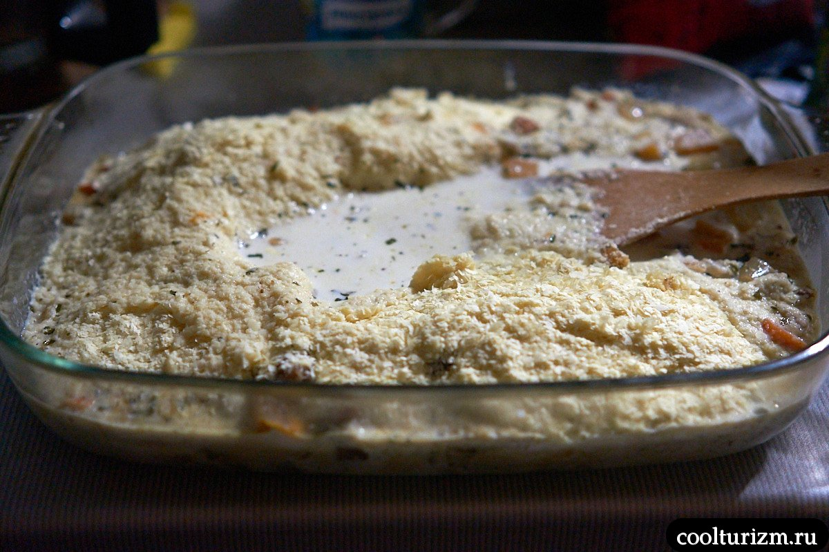 рецепт запеканки из картофельного пюре и желудочков