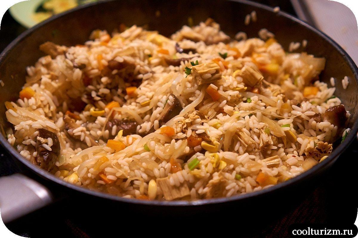 как готовить шиитаке с рисом