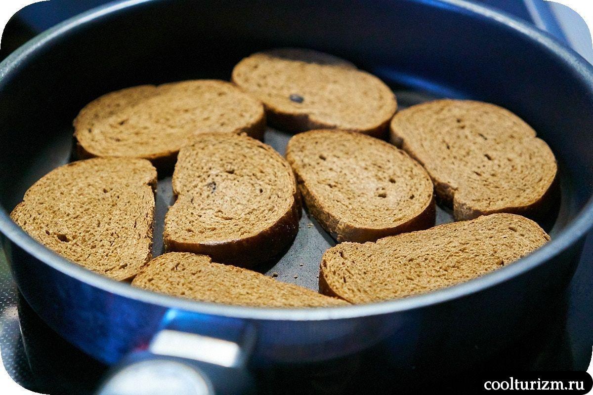 бутерброды с селедкой и черным хлебом