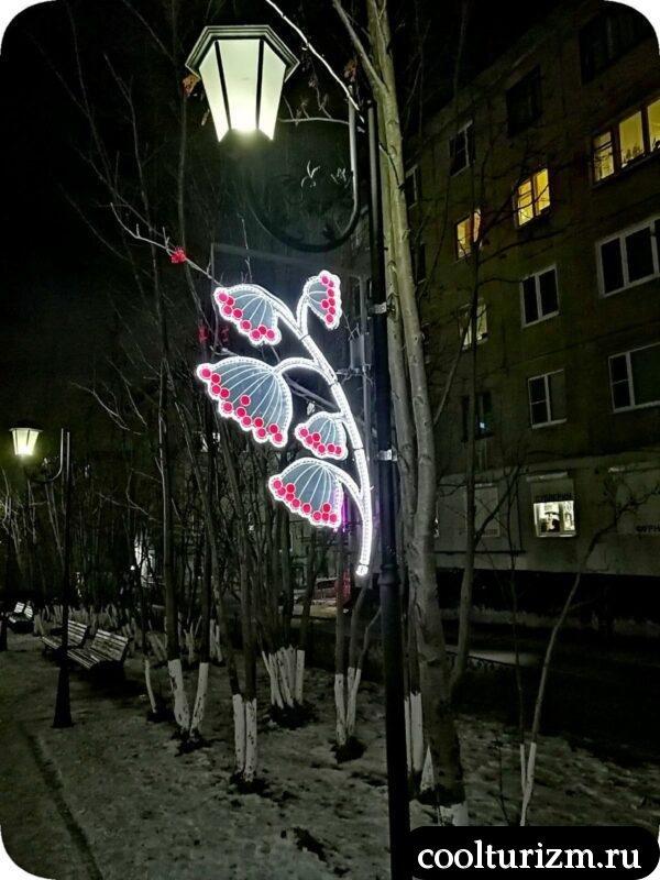 Рябиновая аллея Мурманск зимой