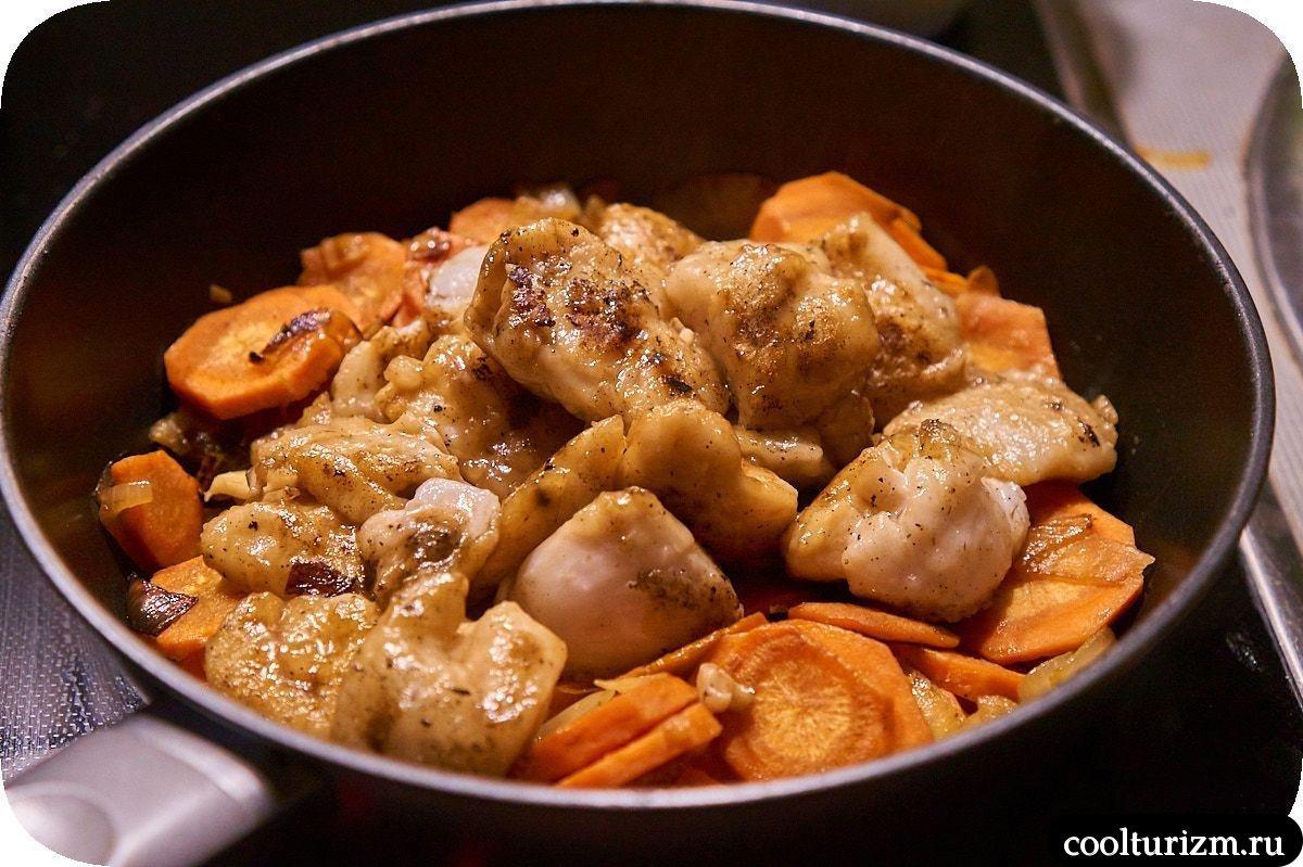 папарделле с рыбой в сливочном соусе