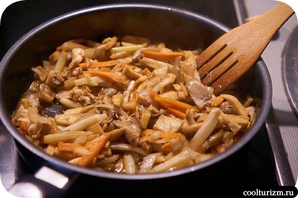 суп шиитаки с проростками