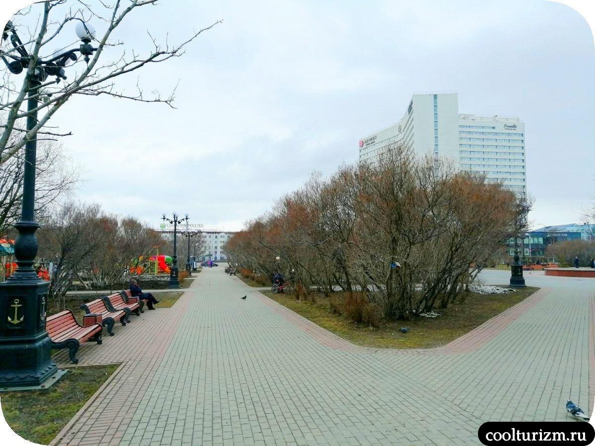 центральный сквер Мурманск
