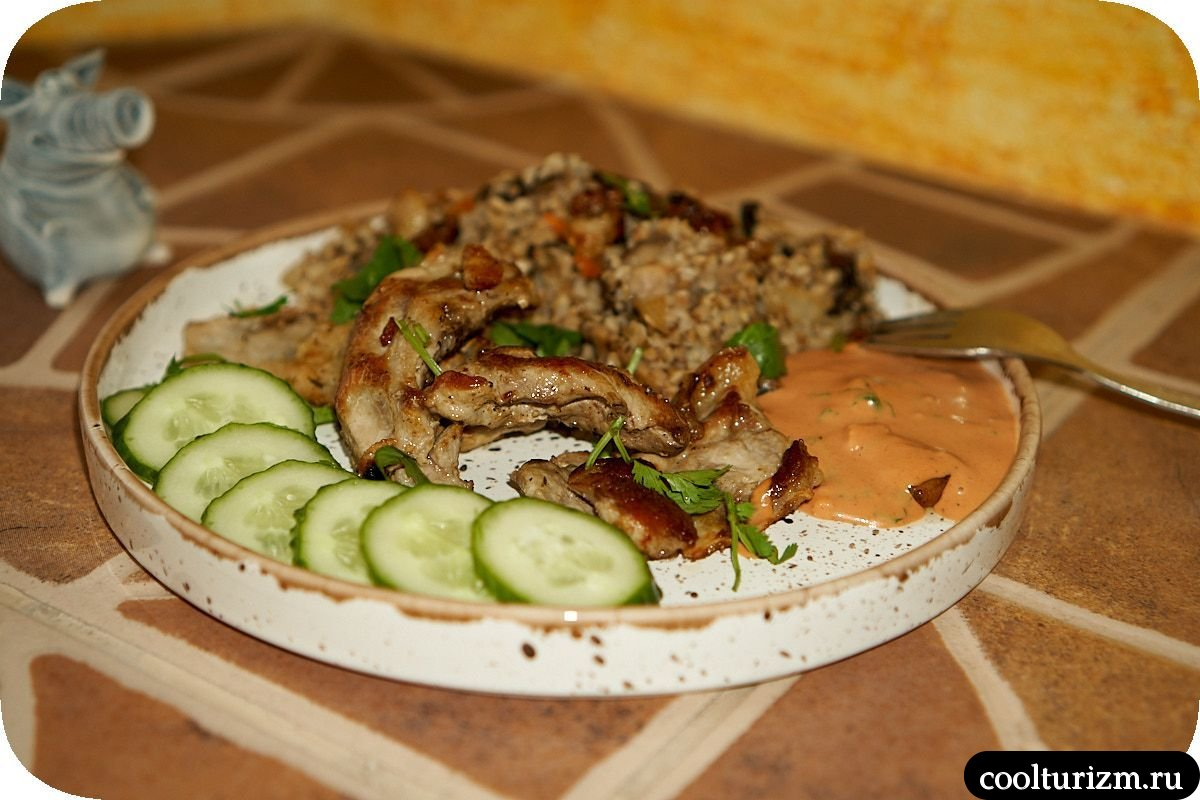 простой рецепт гречки с грибами шиитаке и луком