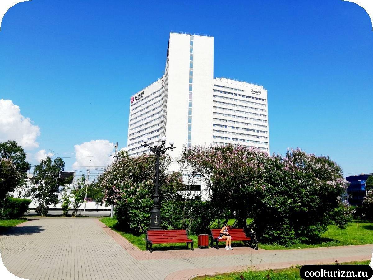 Центральный сквер Мурманск Пять углов
