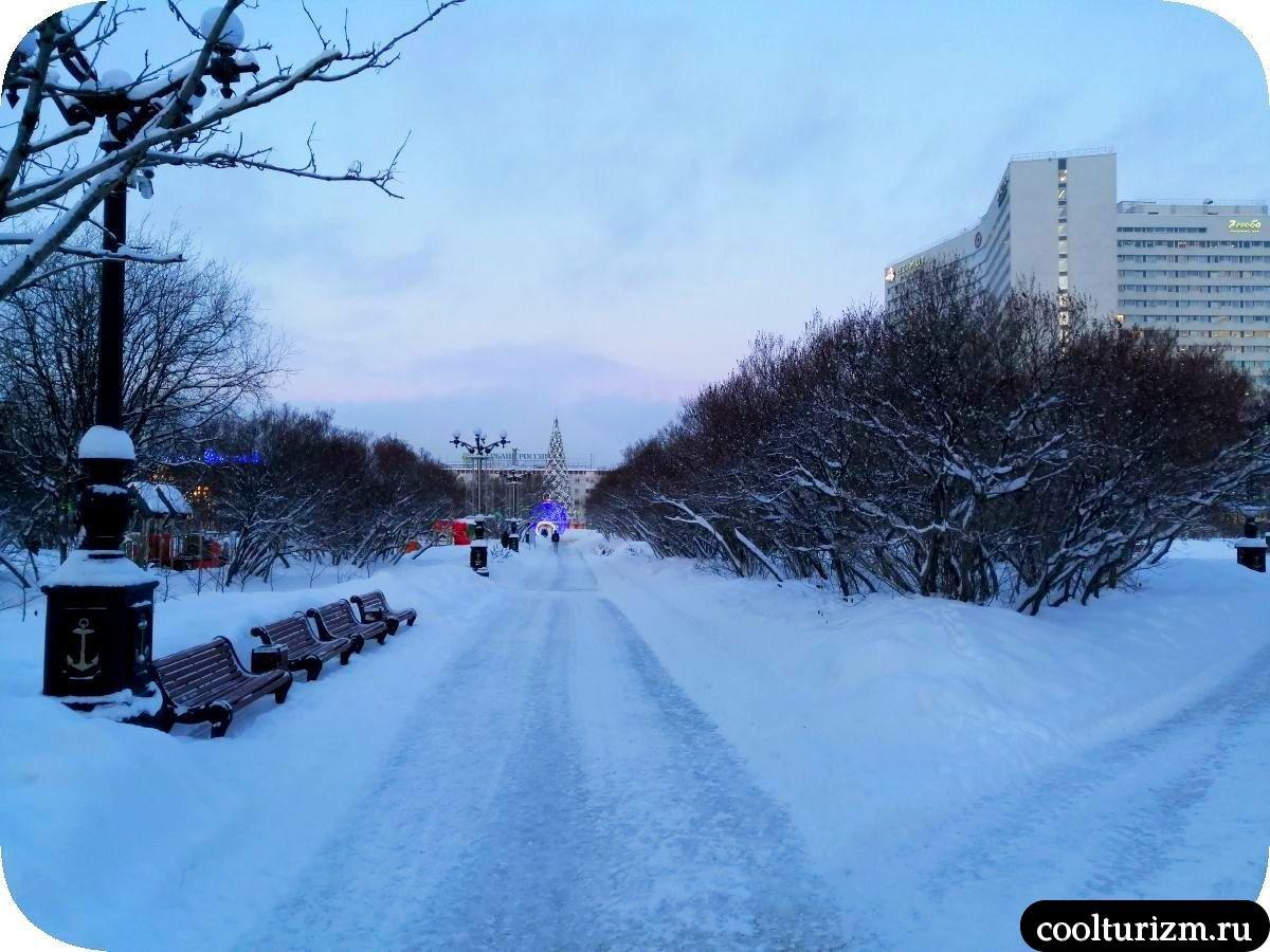 Центральный сквер Мурманск площадь 5 углов