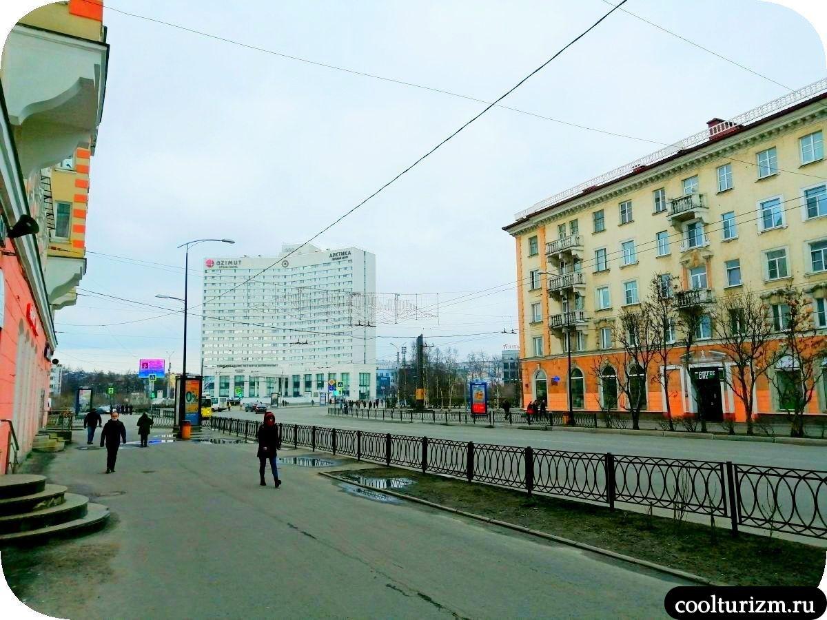 площадь Пять углов в Мурманске