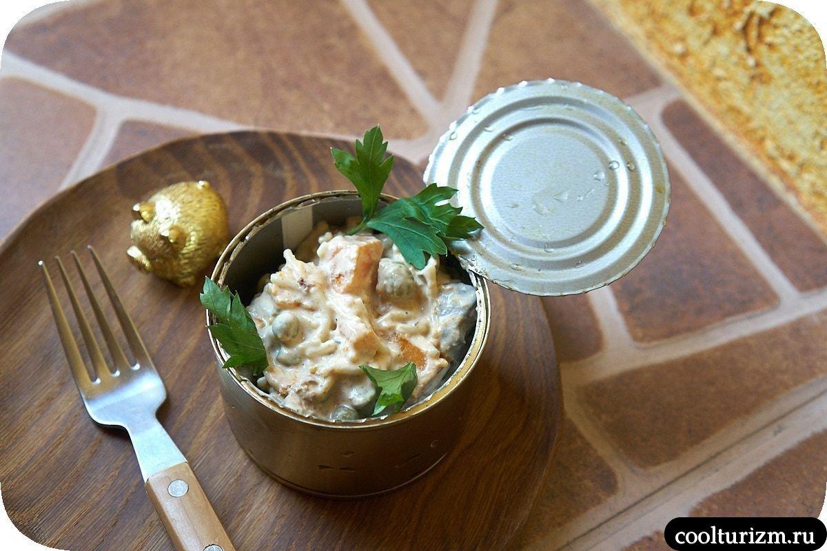 простой салат с печенью и вермишелью