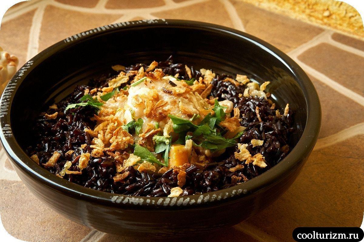 рецепт черный рис и рыба